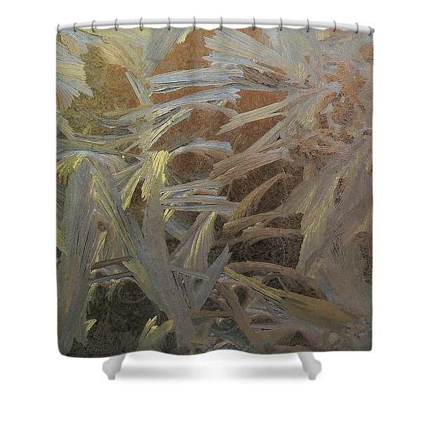 Frostwork - White Jungle Shower Curtain