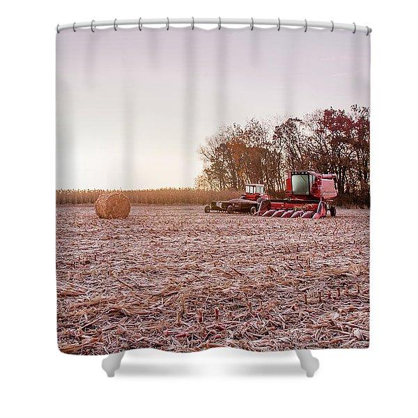 Frosty Harvest Shower Curtain