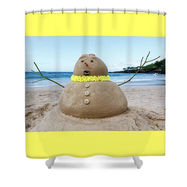 Frosty The Sandman Shower Curtain