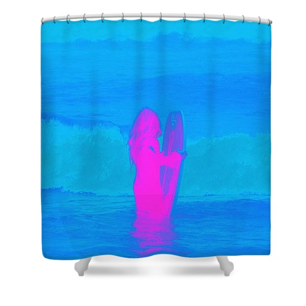 Frothing Neon Shower Curtain