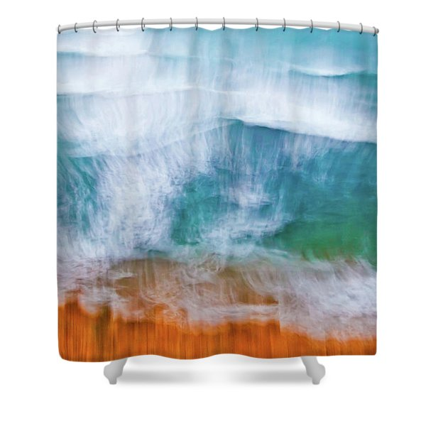 Frothing Over Shower Curtain