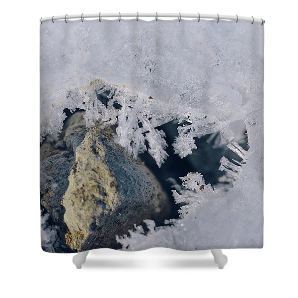 Frozen Rock Shower Curtain