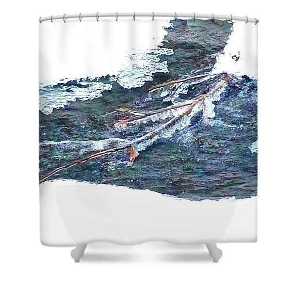 Frozen Stream  Shower Curtain
