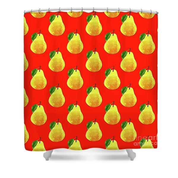 Fruit 03_pear_pattern Shower Curtain