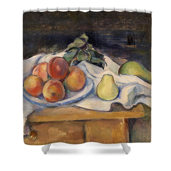 Fruit On A Table Shower Curtain