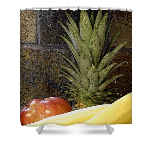 Fruit Pile Shower Curtain