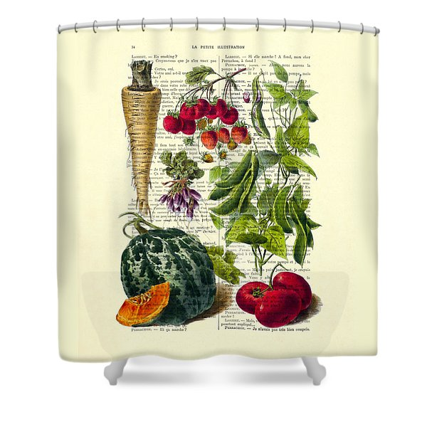 Fruits And Vegetables Kitchen Decoration Shower Curtain