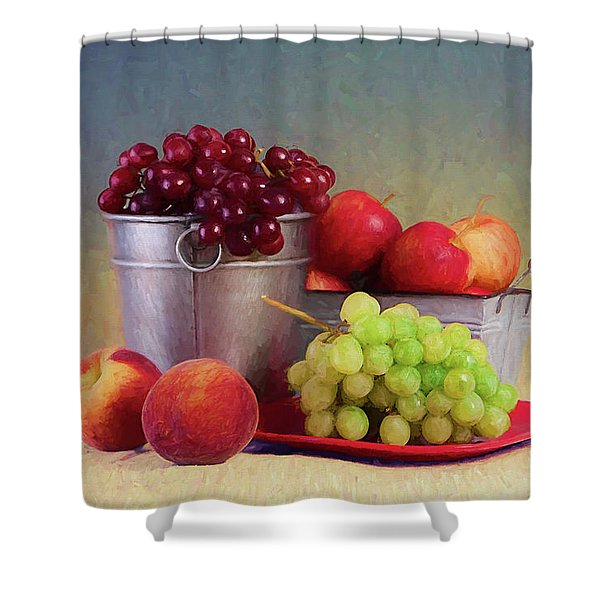 Fruits On Centerstage Shower Curtain
