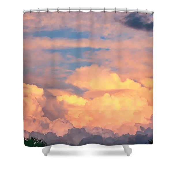 Ft De Soto Sunset Clouds Shower Curtain