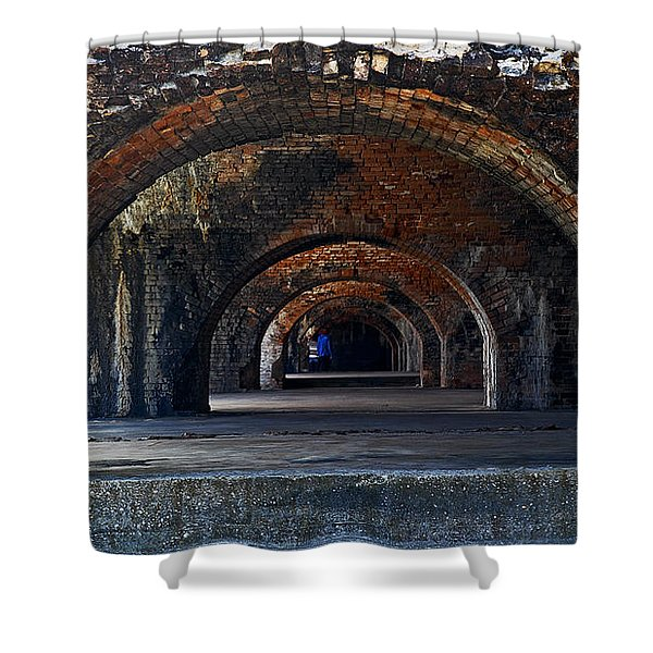 Ft. Pickens Arches Shower Curtain