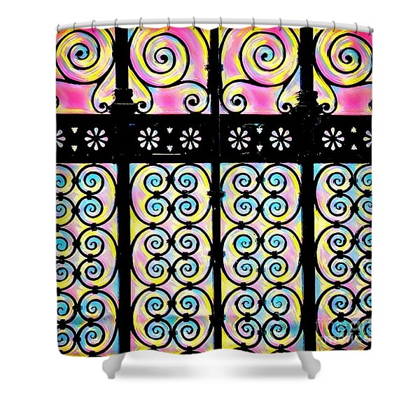 Fuchsia Gate  Shower Curtain