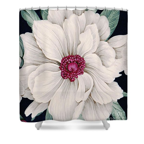 Shower Curtain featuring the mixed media Full Bloom by Writermore Arts