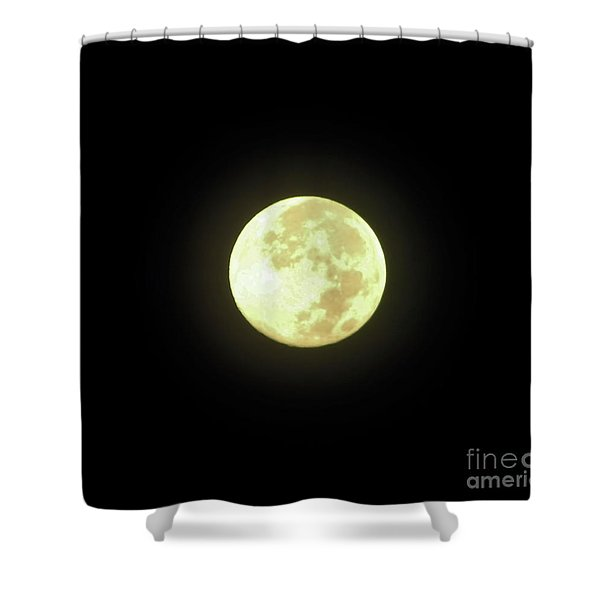 Full Moon August 2014 Shower Curtain