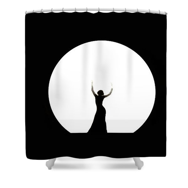 Full Moon Dance Shower Curtain