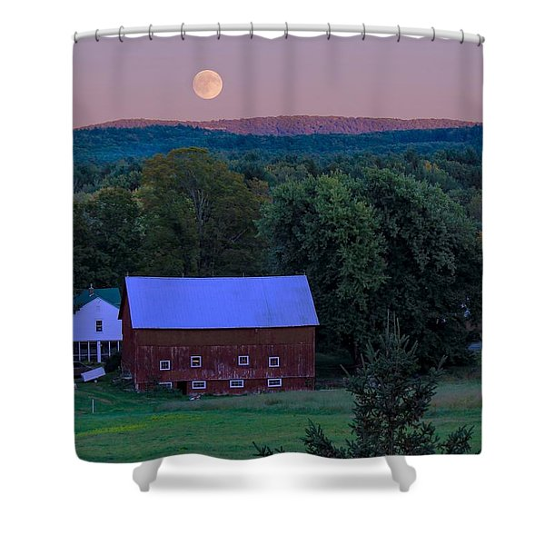 Full Moon From High Street Shower Curtain