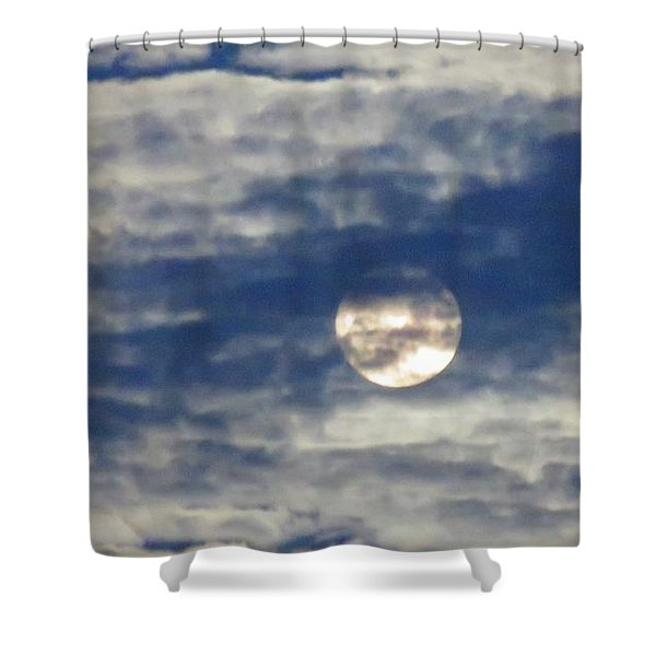Full Moon In Gemini With Clouds Shower Curtain