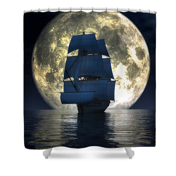 Full Moon Pirates Shower Curtain