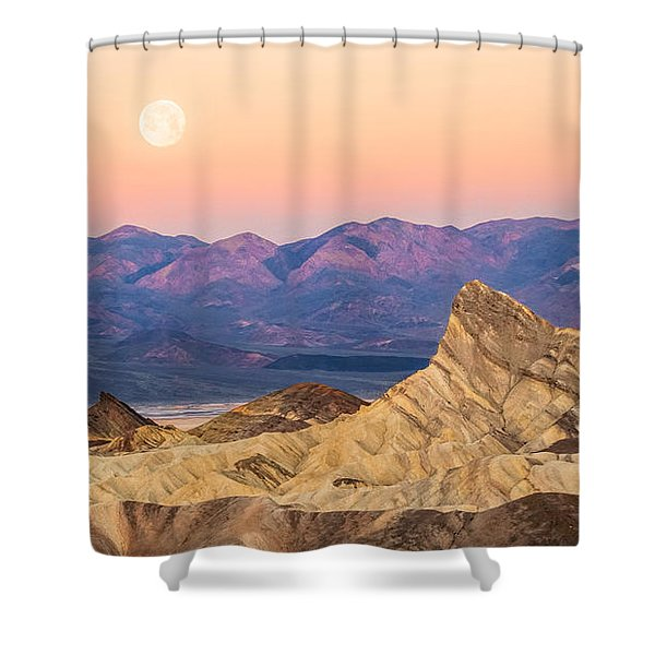 Full Moon Setting Shower Curtain