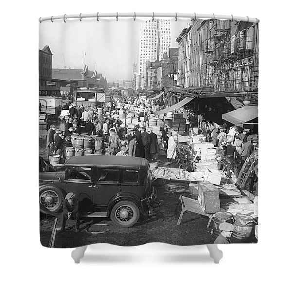 Fulton Fish Market Shower Curtain