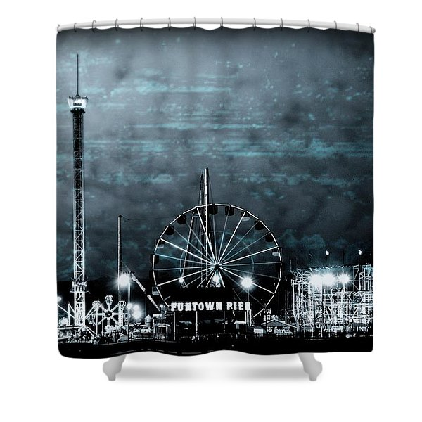 Fun In The Dark - Jersey Shore Shower Curtain