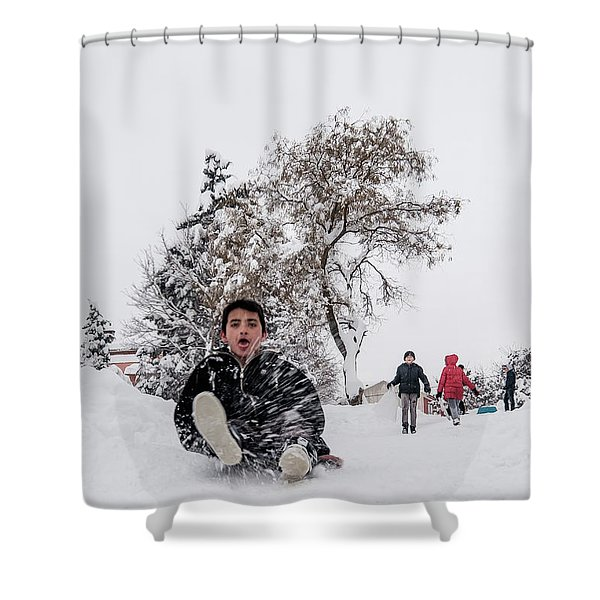 Fun On Snow-2 Shower Curtain