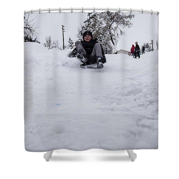 Fun On Snow-3 Shower Curtain