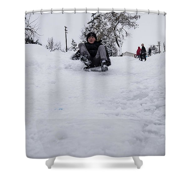 Fun On Snow-3 Shower Curtain