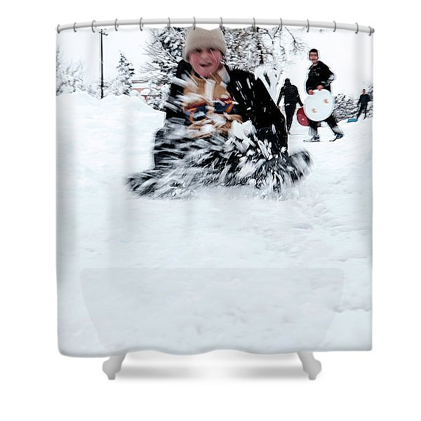 Fun On Snow-5 Shower Curtain
