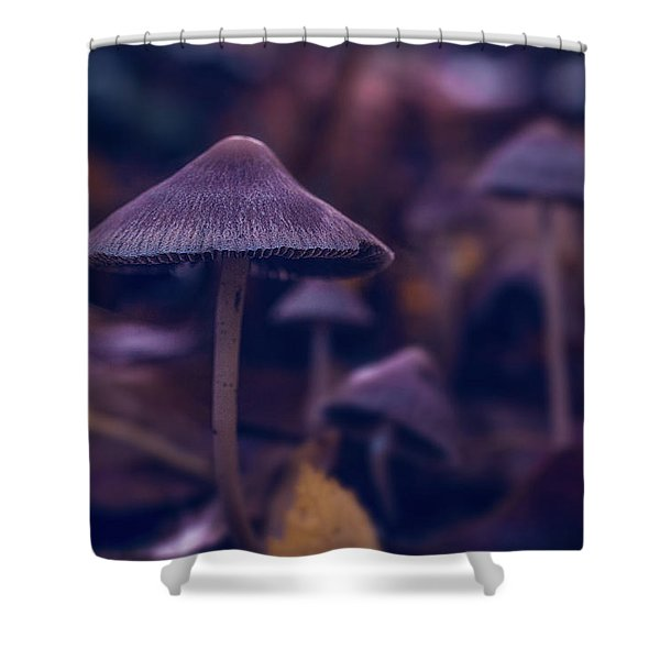 Fungi World Shower Curtain