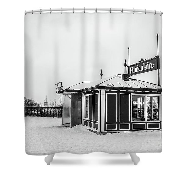 Funiculaire Quebec City Shower Curtain