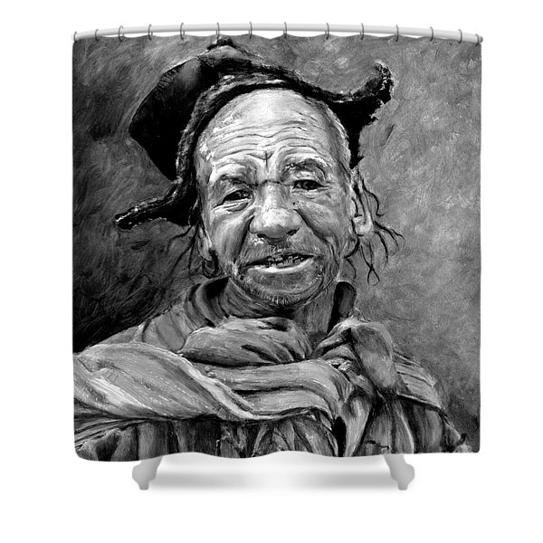 Funky Hat Shower Curtain