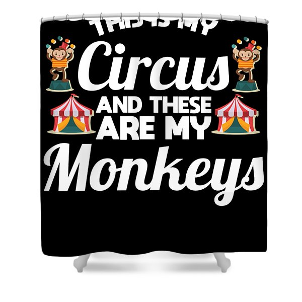 Funny Circus Party Apparel Shower Curtain