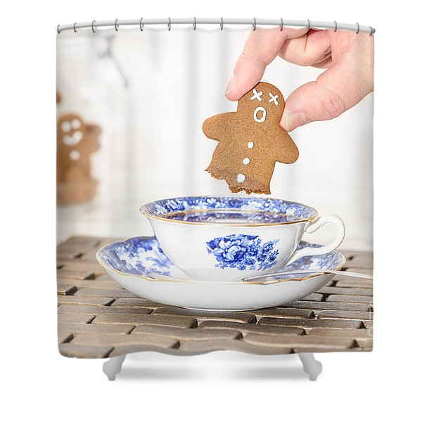 Funny Gingerbread Shower Curtain