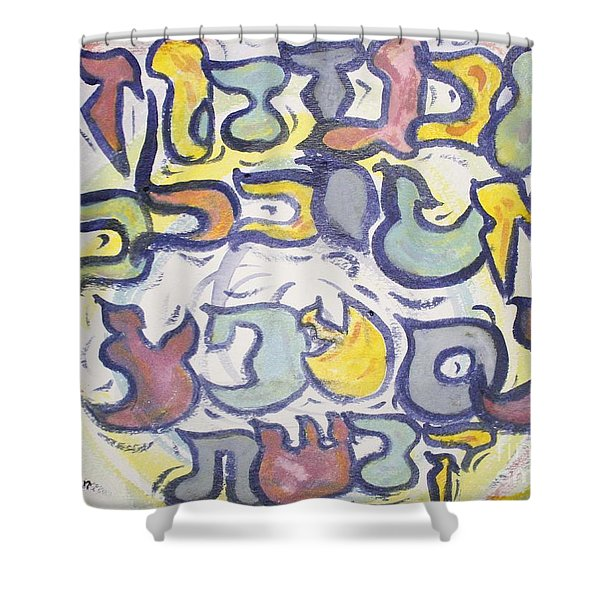 Funnzie Letters Shower Curtain