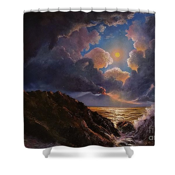 Shower Curtain featuring the painting Furor by Rosario Piazza