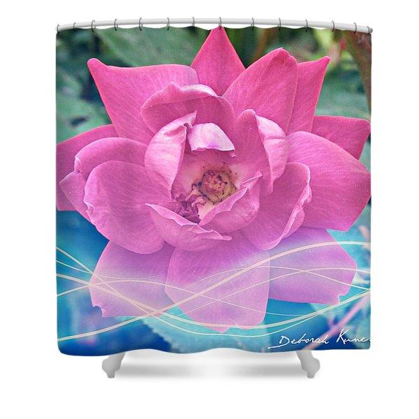 Fuschia Flower Energy Shower Curtain