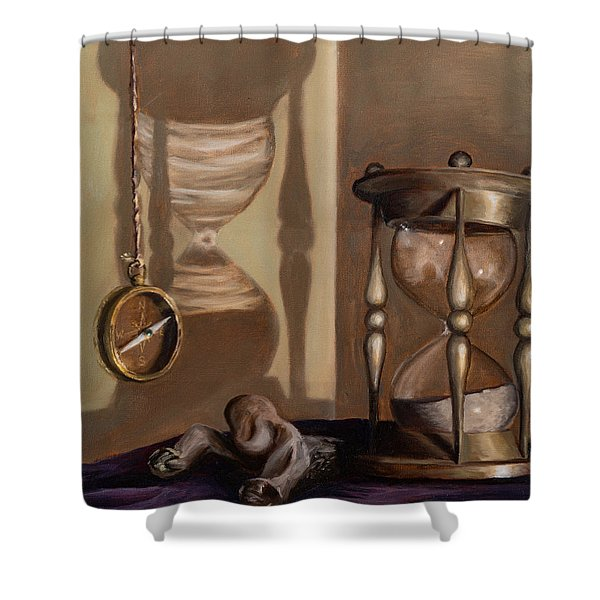 Shower Curtain featuring the painting Futility by Break The Silhouette