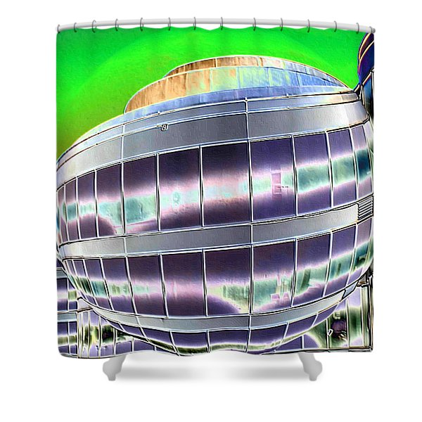 Future Office Space Shower Curtain by Carol Groenen