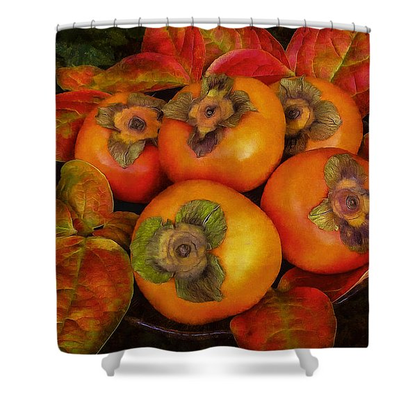 Fuyu Persimmons Shower Curtain