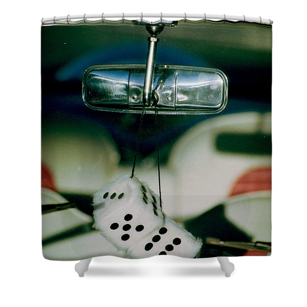 Fuzzy Dice  Shower Curtain