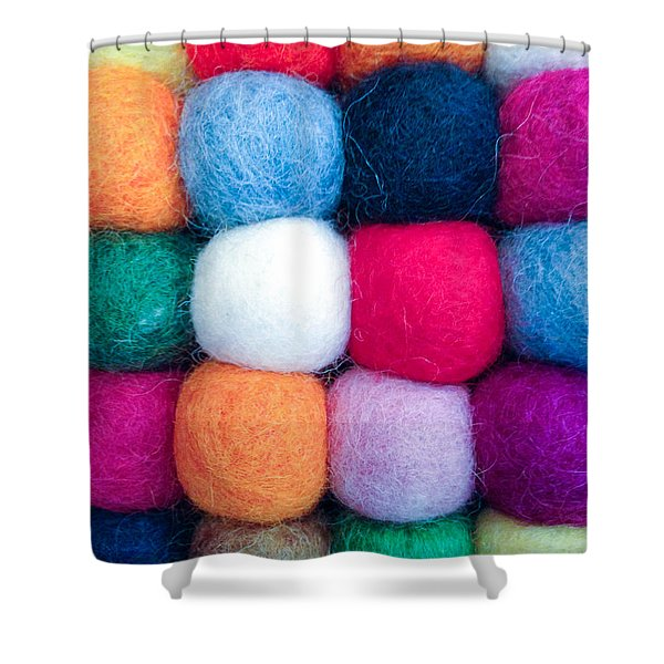 Fuzzy Wuzzies Shower Curtain