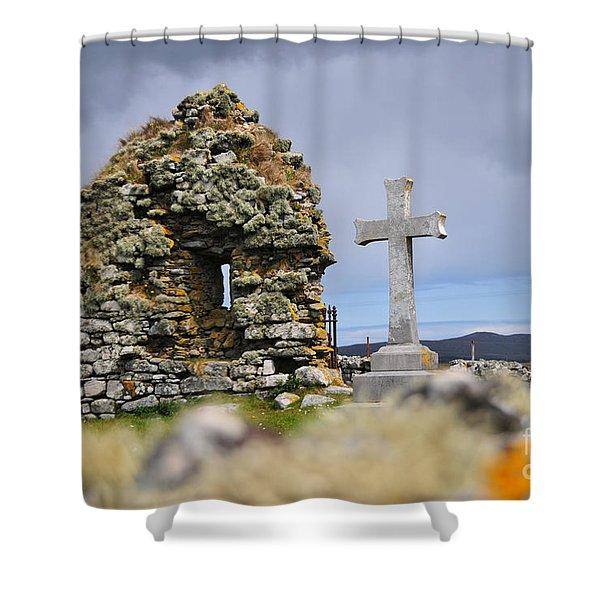 Gaelic Headstone Shower Curtain
