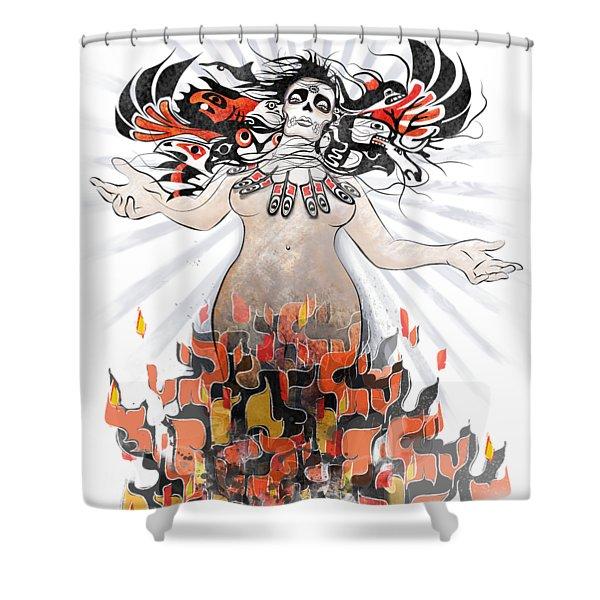 Gaia In Turmoil Shower Curtain