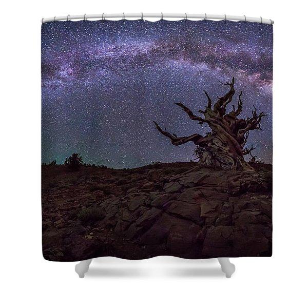 Galactic Keeper Shower Curtain