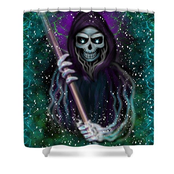Galaxy Grim Reaper Fantasy Art Shower Curtain