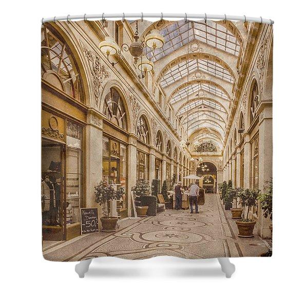 Paris, France - Galerie Vivienne Shower Curtain