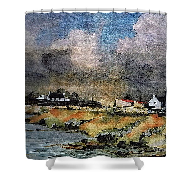 Galway...storm Clouds Over Sruthan Shower Curtain