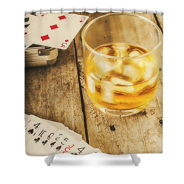 Gamblers Still Life Shower Curtain