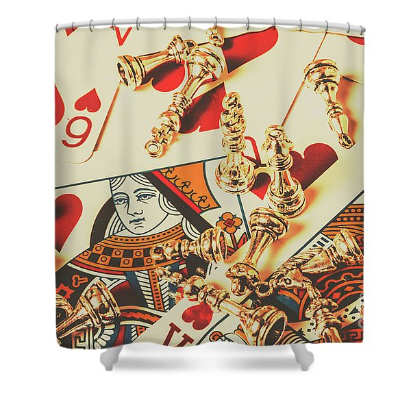 Games Of Love Shower Curtain