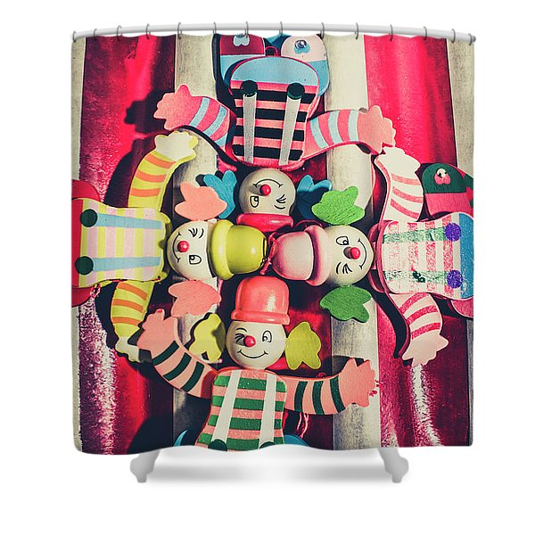 Games Room Of Wooden Circus Play Shower Curtain